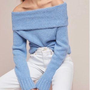 Anthropologie Natalia off shoulder sweater.